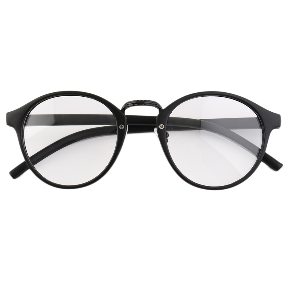 Retro Geek Vintage Nerd Large Frame Fashion~Round Clear ...