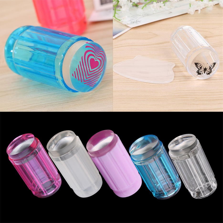 DIY Jelly Nail Art Stamping Clear Soft Silicone Stamper Scraper ...