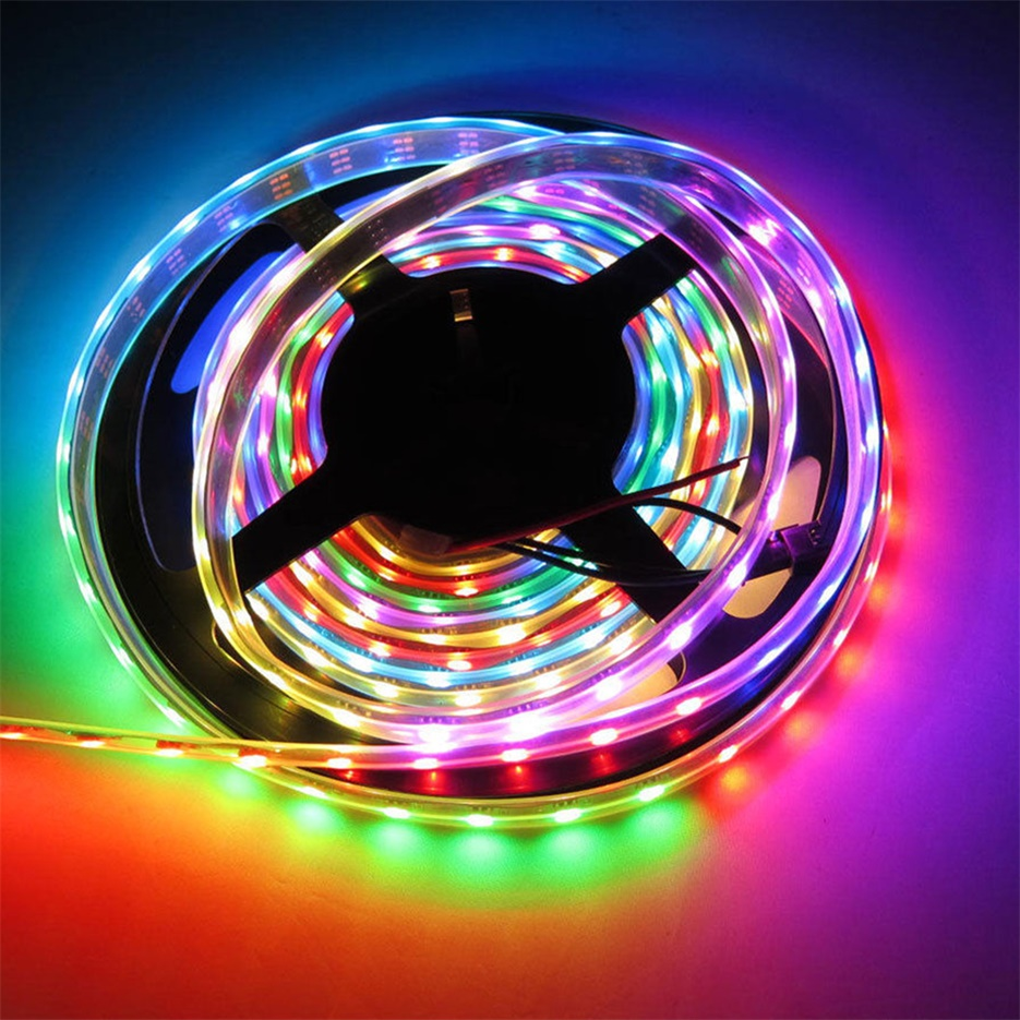 new 5m ws2812b ws2811 individual addressable 5050smd 12v led strip light xy ebay. Black Bedroom Furniture Sets. Home Design Ideas