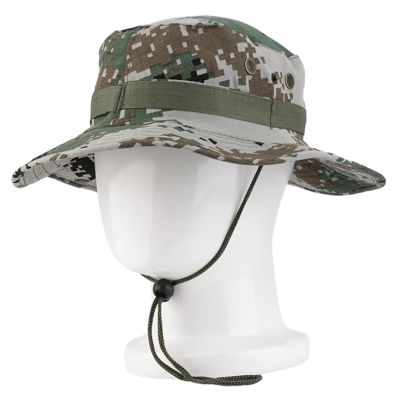Outdoor sun fisherman round hat mystery camouflage fishing for Fishing sun hat