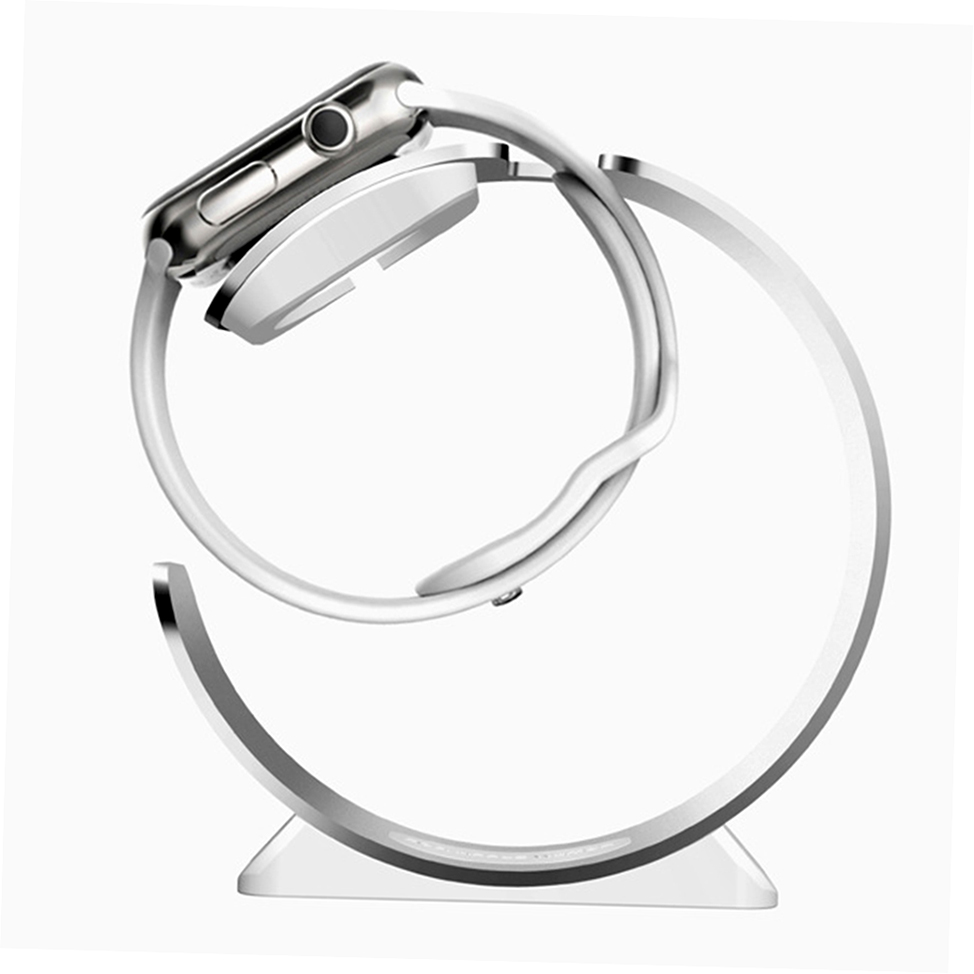 Aluminum Curve Streamlined Charging Dock Holder Stand For Apple Watch G#
