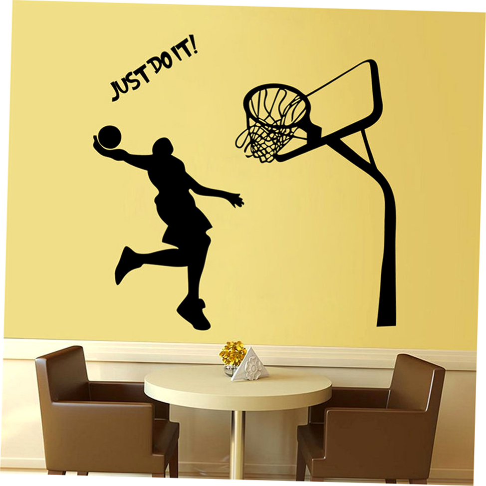 Basketball dunk sport removable wall art decal vinyl for Cn mural designs