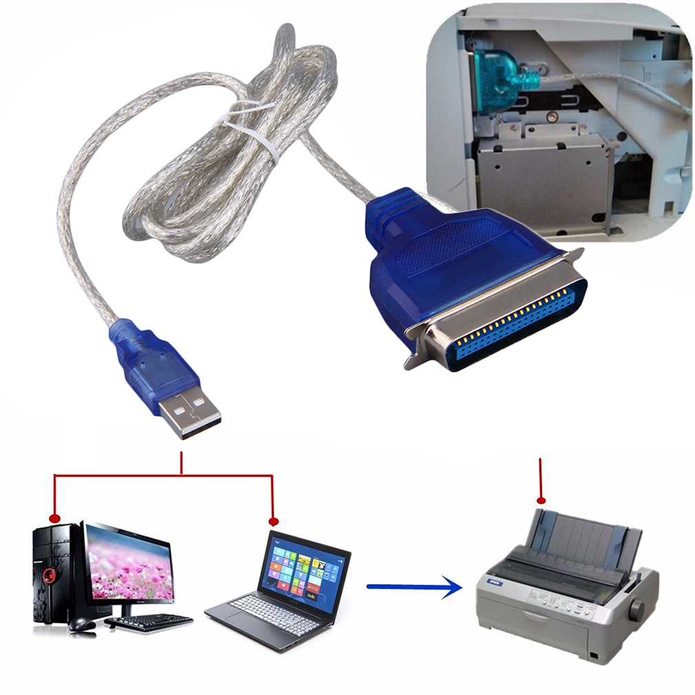 Usb To Parallel Ieee 1284 36 Pin Printer Adapter Connect