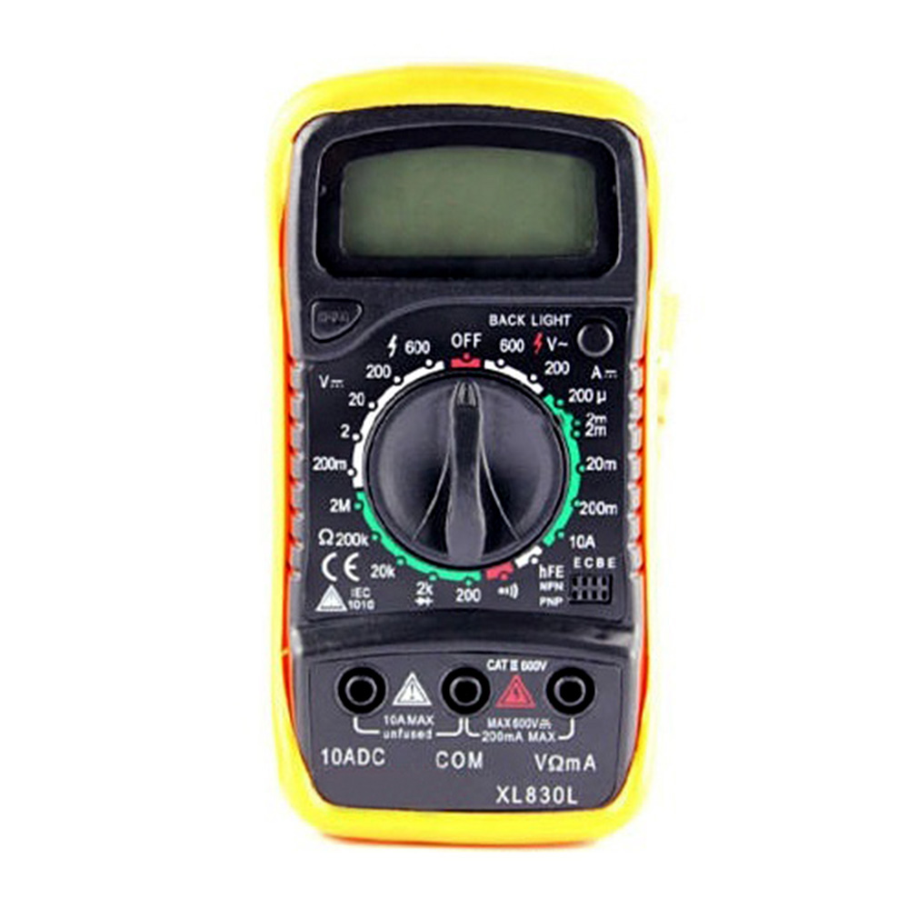 Check For Continuity Voltmeter : Digital lcd multimeter voltmeter ammeter ohm ac dc circuit