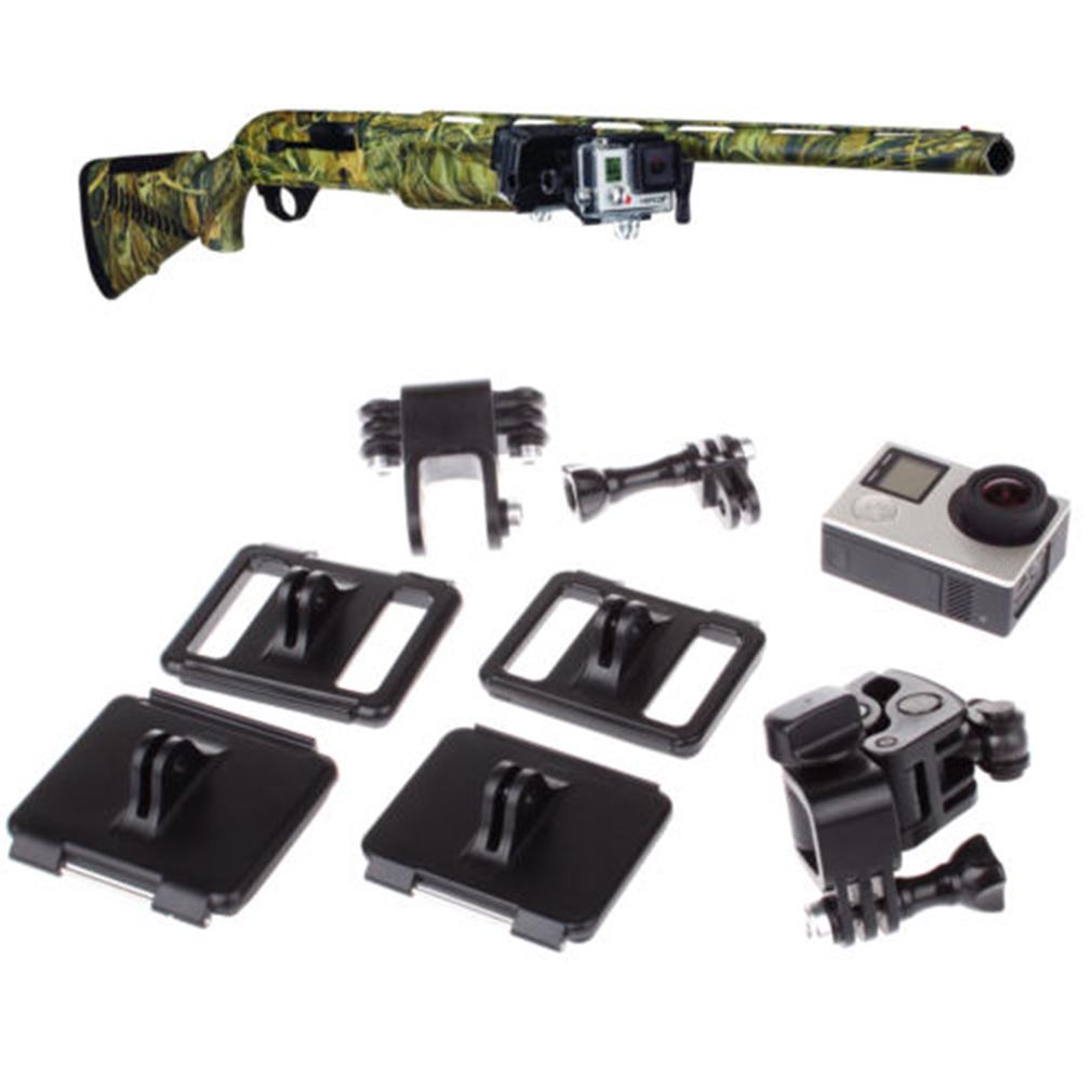 Gun fishing rod bow sportsman mount for gopro hero 4 3 3 for Gun fishing rod