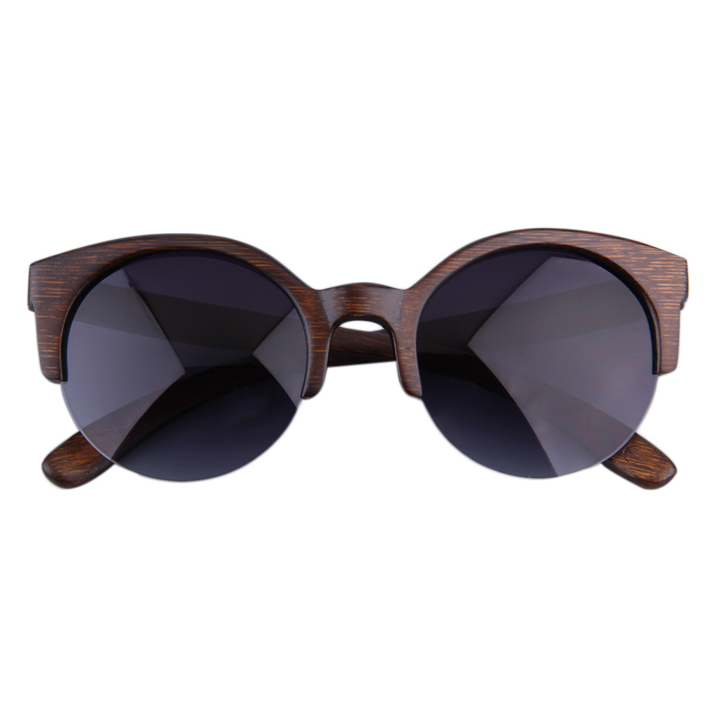 Half Frame Round Eyeglasses : Allwin New Half Round Sunglasses Full Eyewear Bamboo Frame ...