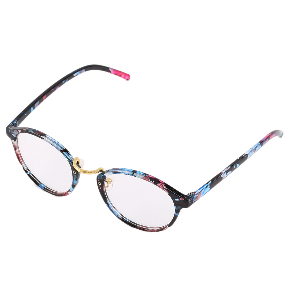 Retro Geek Vintage Nerd Large Frame Fashion Round Clear ...