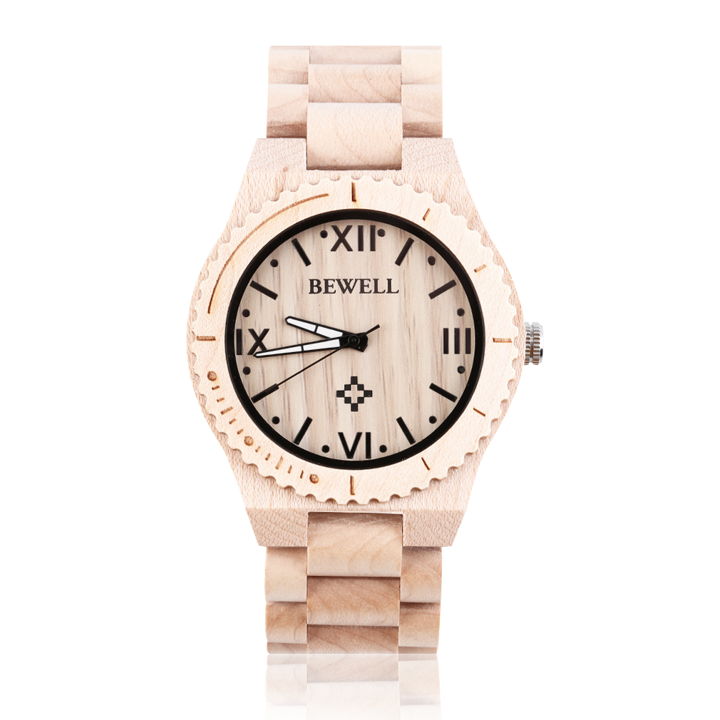 bewell w065a high quality wooden watches s quartz