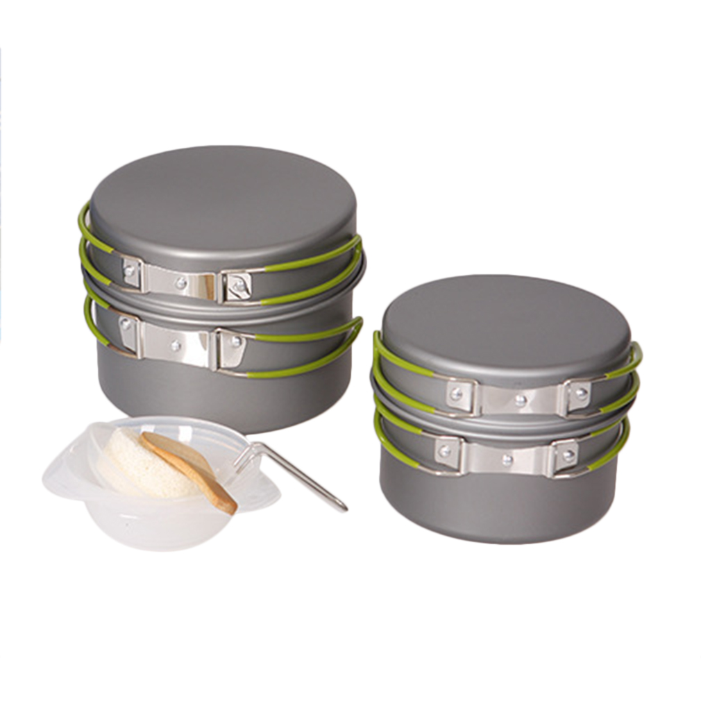 4/8/9pc Portable Outdoor Hiking Camping Cookware Cooking ...