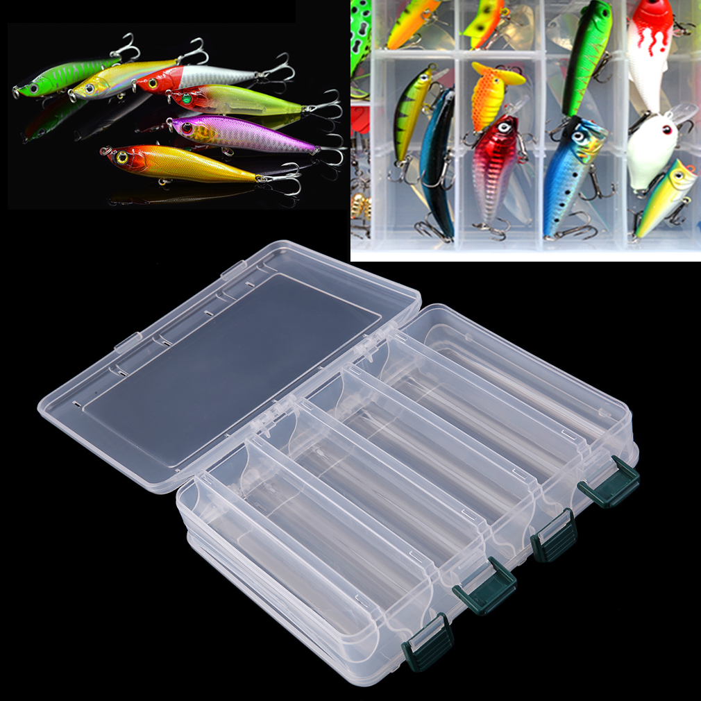 Double sided fishing lure bait hooks tackle waterproof for Best fishing tackle box