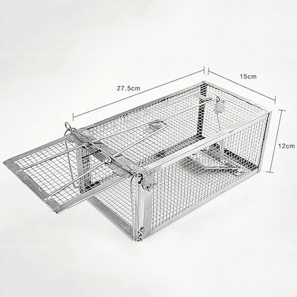 one door animal trap steel cage for small live rodent. Black Bedroom Furniture Sets. Home Design Ideas