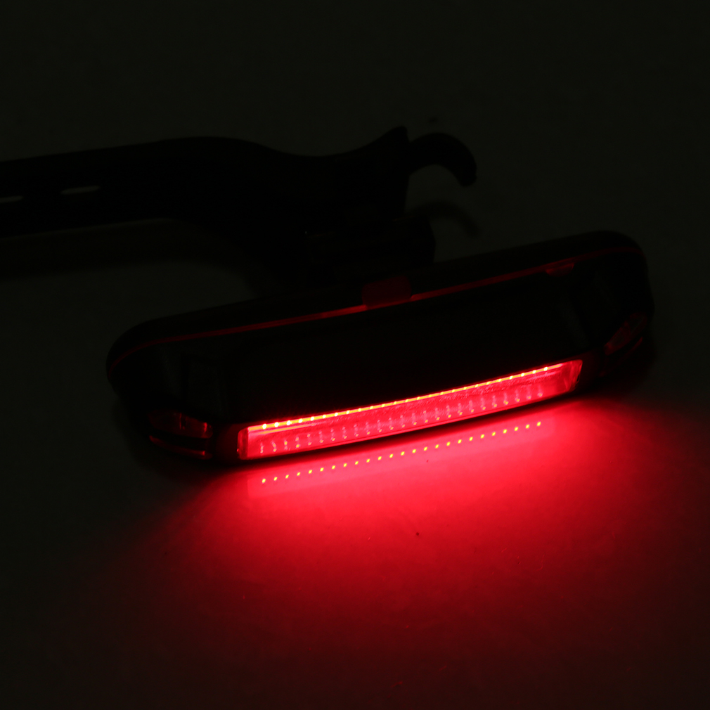 USB Rechargeable COB LED Bicycle Bike Front Rear Tail Light Warning Lamp BS