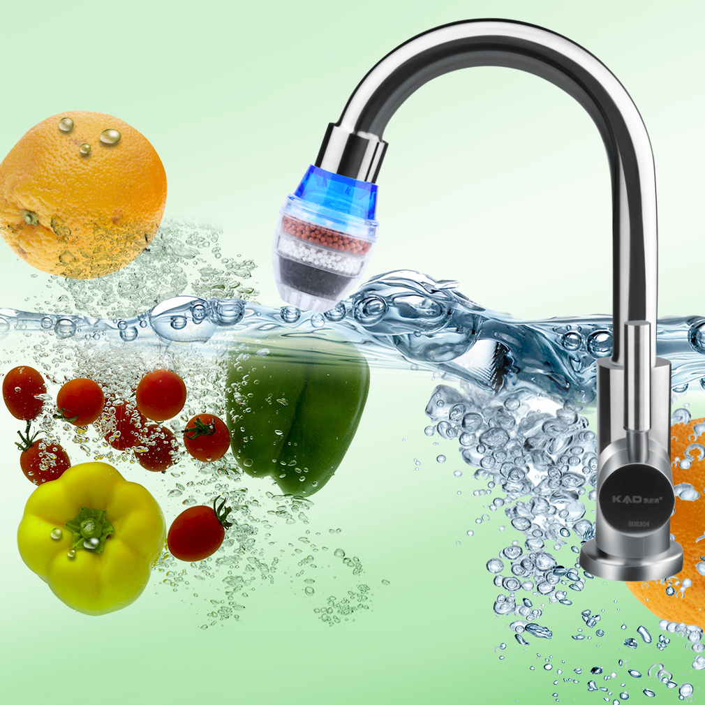 how to clean kitchen water faucet