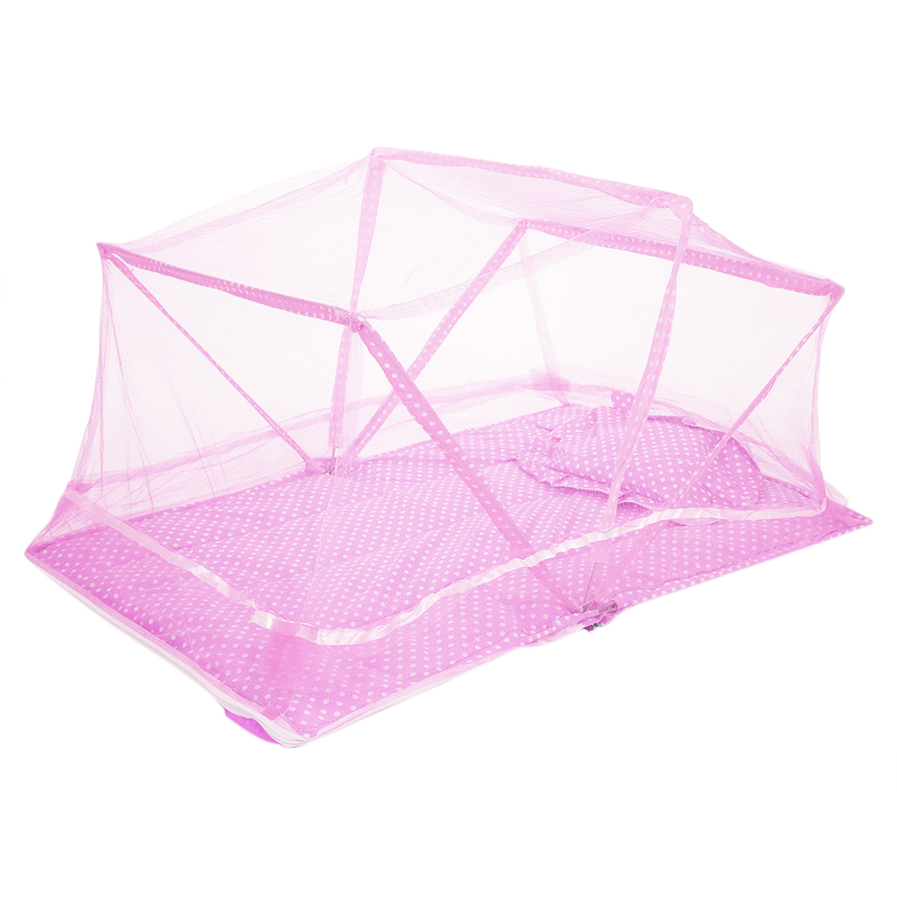 Portable folding baby infant travel bed crib canopy for Baby crib net