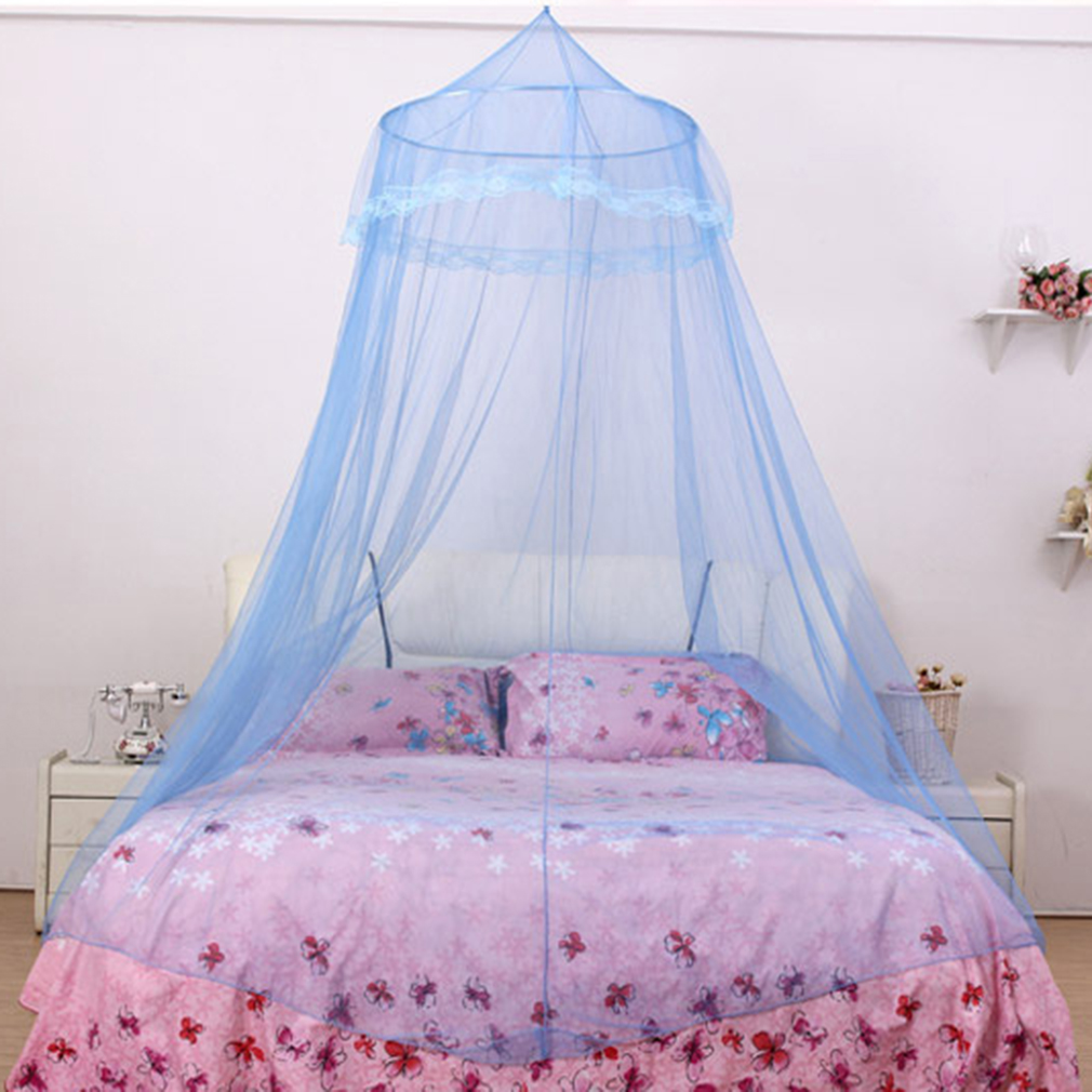 satin crown mosquito net bed single double king midge