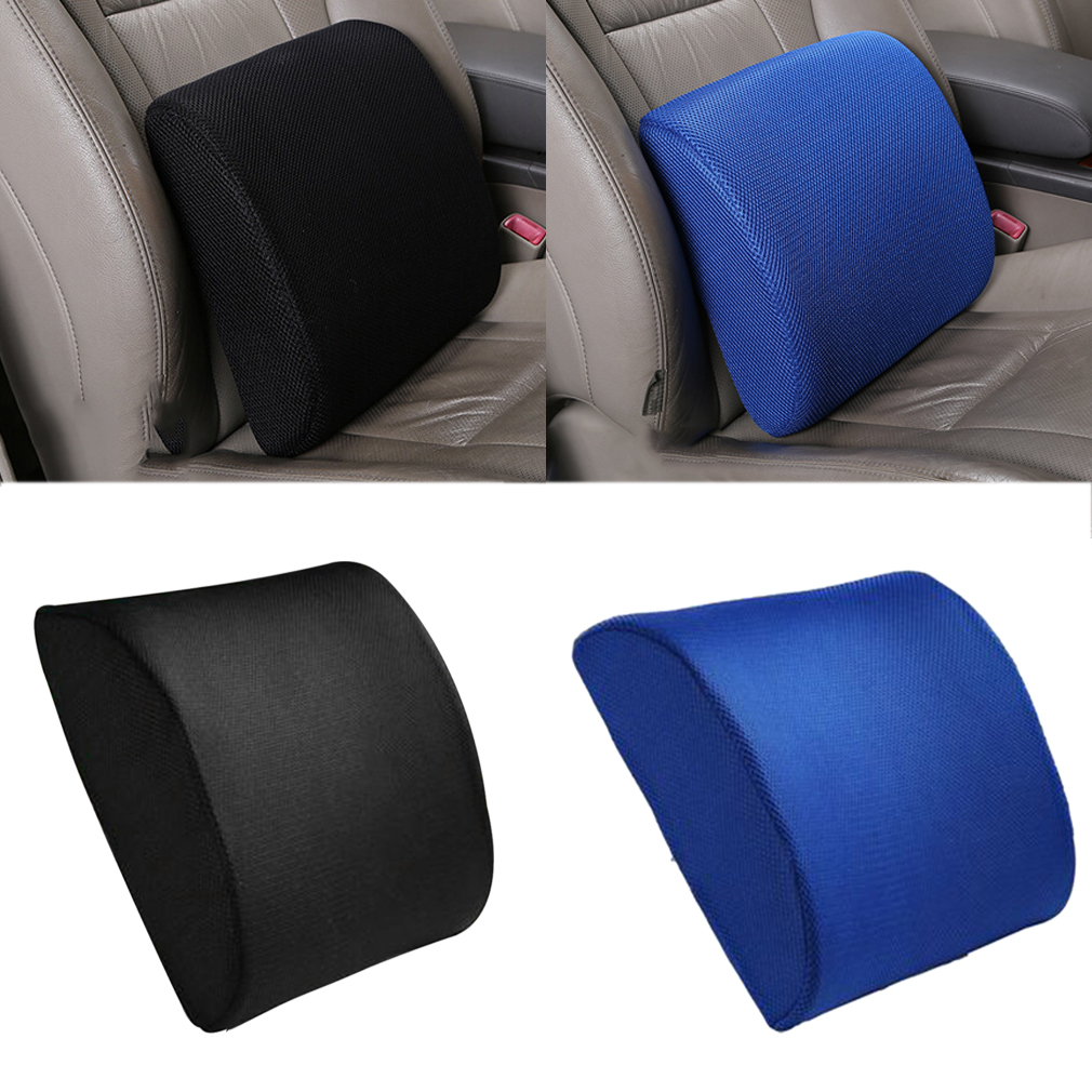 Back Support Cushion Waist Pillow Memory Foam Lumbar Office Home Chair Car ZS