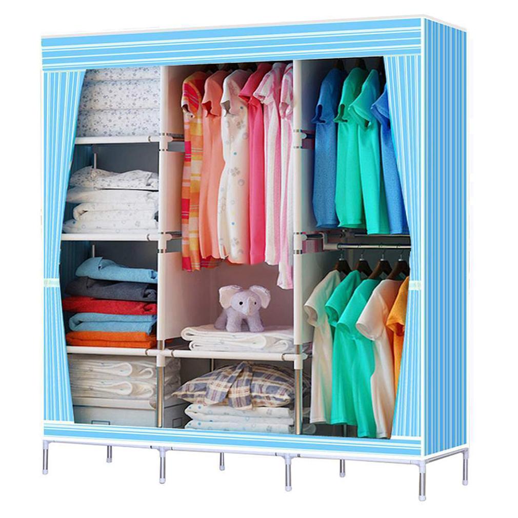 Portable Stainless Closet Garment Storage Wardrobe Organizer Clothe Rack 68 70 Quot Ebay