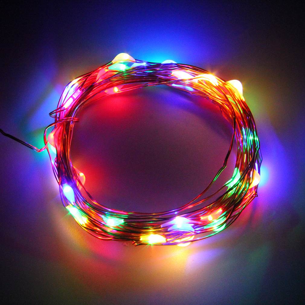 5M 50LED String Fairy Light Battery Operated Xmas Lights
