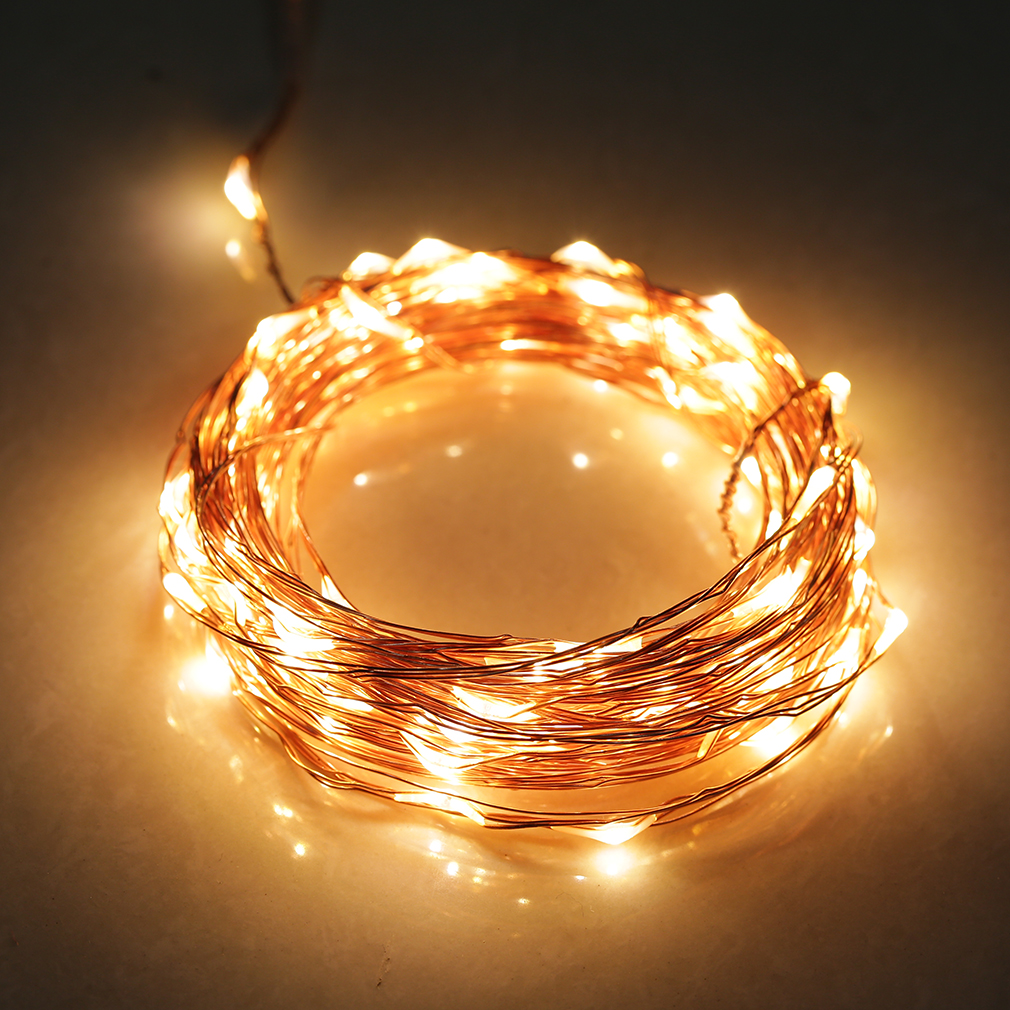 20/30/40/50/100 LED String Copper Wire Xmas Wedding Party String Fairy Light Top eBay