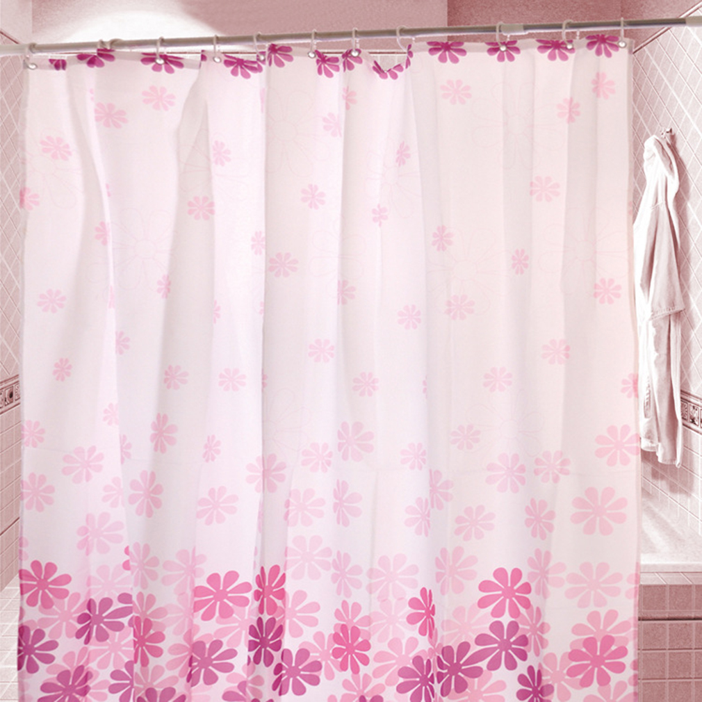 bathroom polyester fabric peach blossom style printed