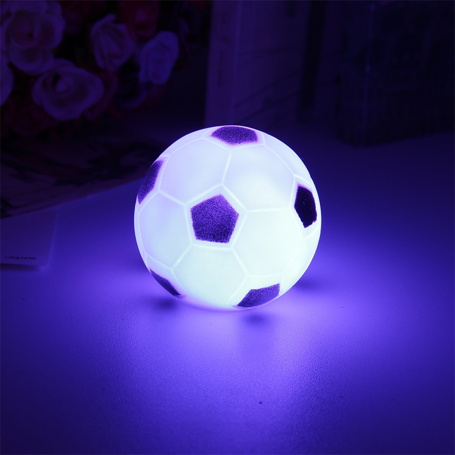Corbett Lighting Party All Night: Color Changing Soccer Football LED Light Night Lamp Party