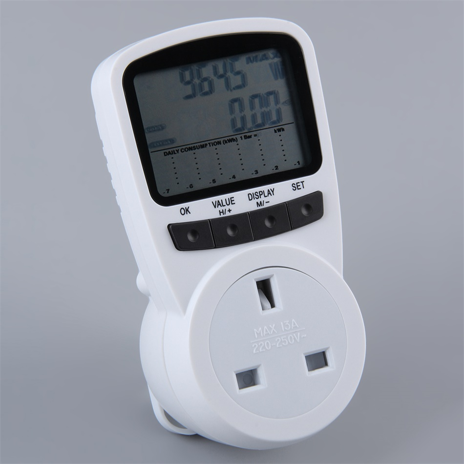 Electronic Electric Meter : Ts electronic energy meter lcd monitor plug in