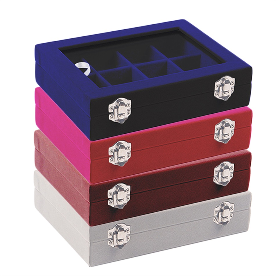 12 slot earrings ring jewelry display tray organizer for Ring case