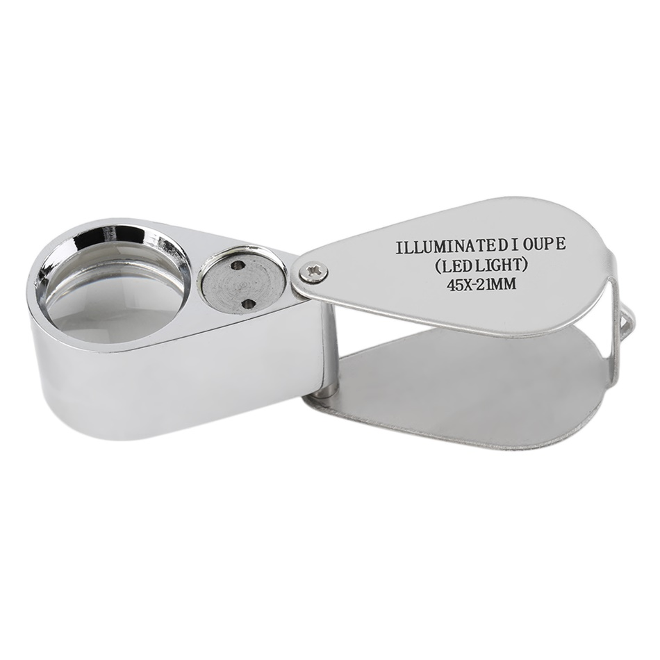 45x21mm jewelers glass eye loupe loop magnifier magnifying. Black Bedroom Furniture Sets. Home Design Ideas