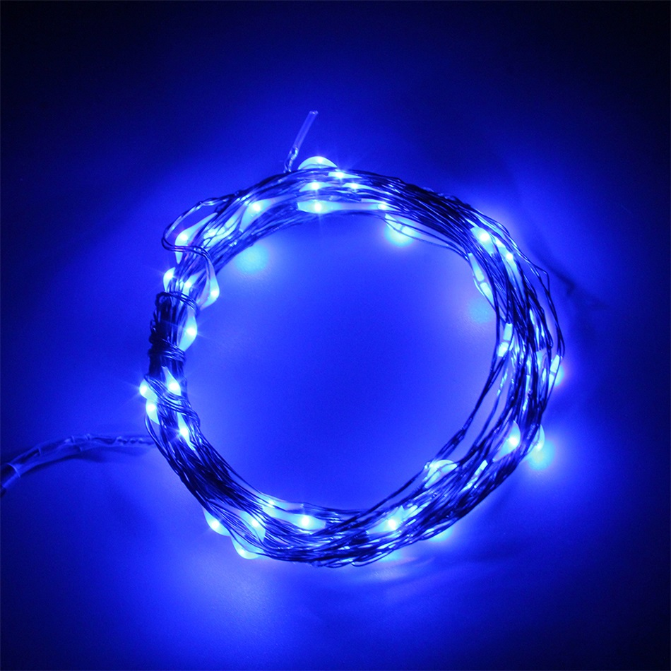 5m 50 led copper wire xmas wedding party string fairy. Black Bedroom Furniture Sets. Home Design Ideas