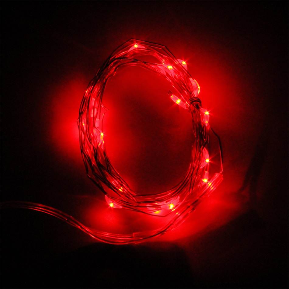 2M 20 LEDs Button Battery Operated LED Copper Wire String Fairy Lights Party E0