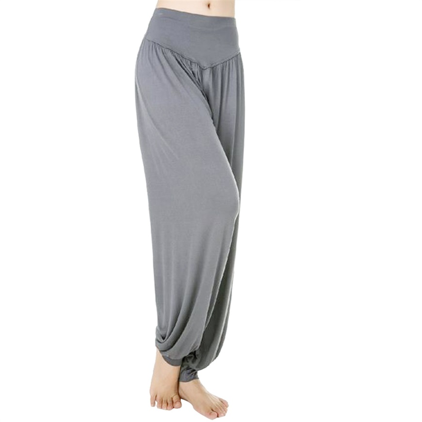 women comfy harem loose long pants belly dance casual wide