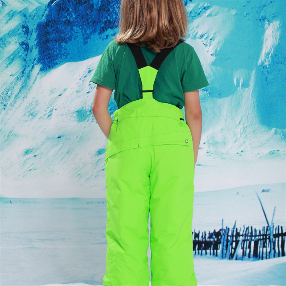 Children kids winter warm outdoor waterproof ski pants for Waterproof fishing bibs