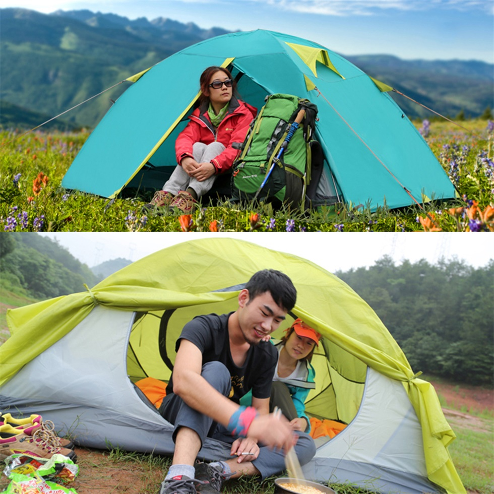 New Two Person Tent Double Wall Extent Outdoor Hiking ...