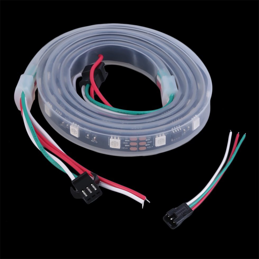 ws2811 5050 rgb led strip light waterproof addressable tube dc12v black shell bg ebay. Black Bedroom Furniture Sets. Home Design Ideas
