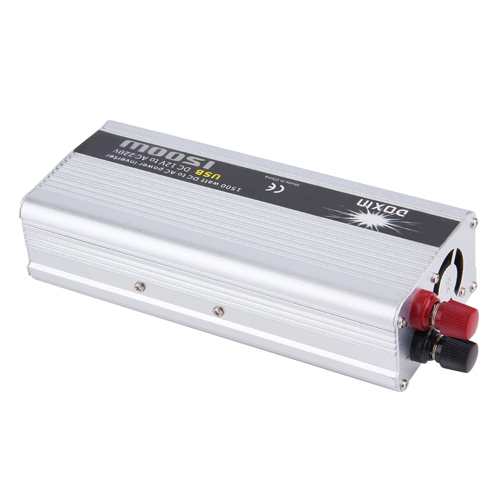 Portable 1500 Watts DC To AC USB Car Power Inverter DC 12V