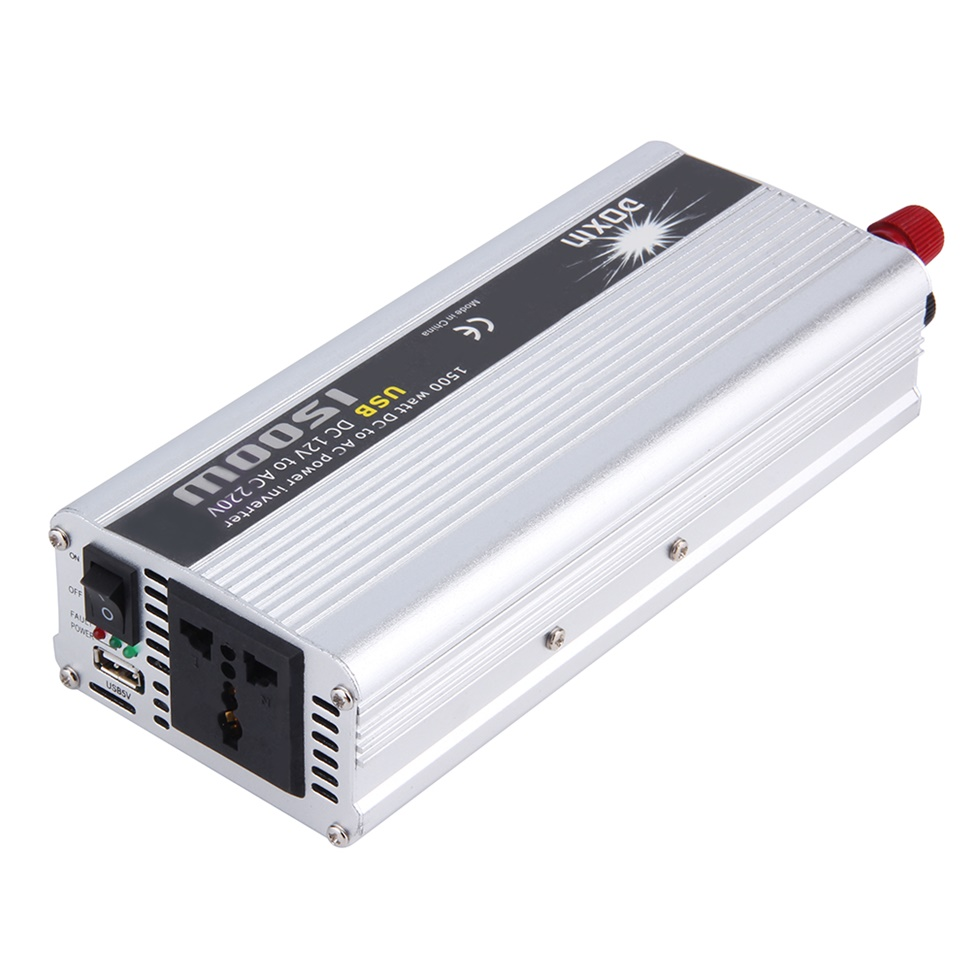 Portable 1500 watts dc to ac usb car