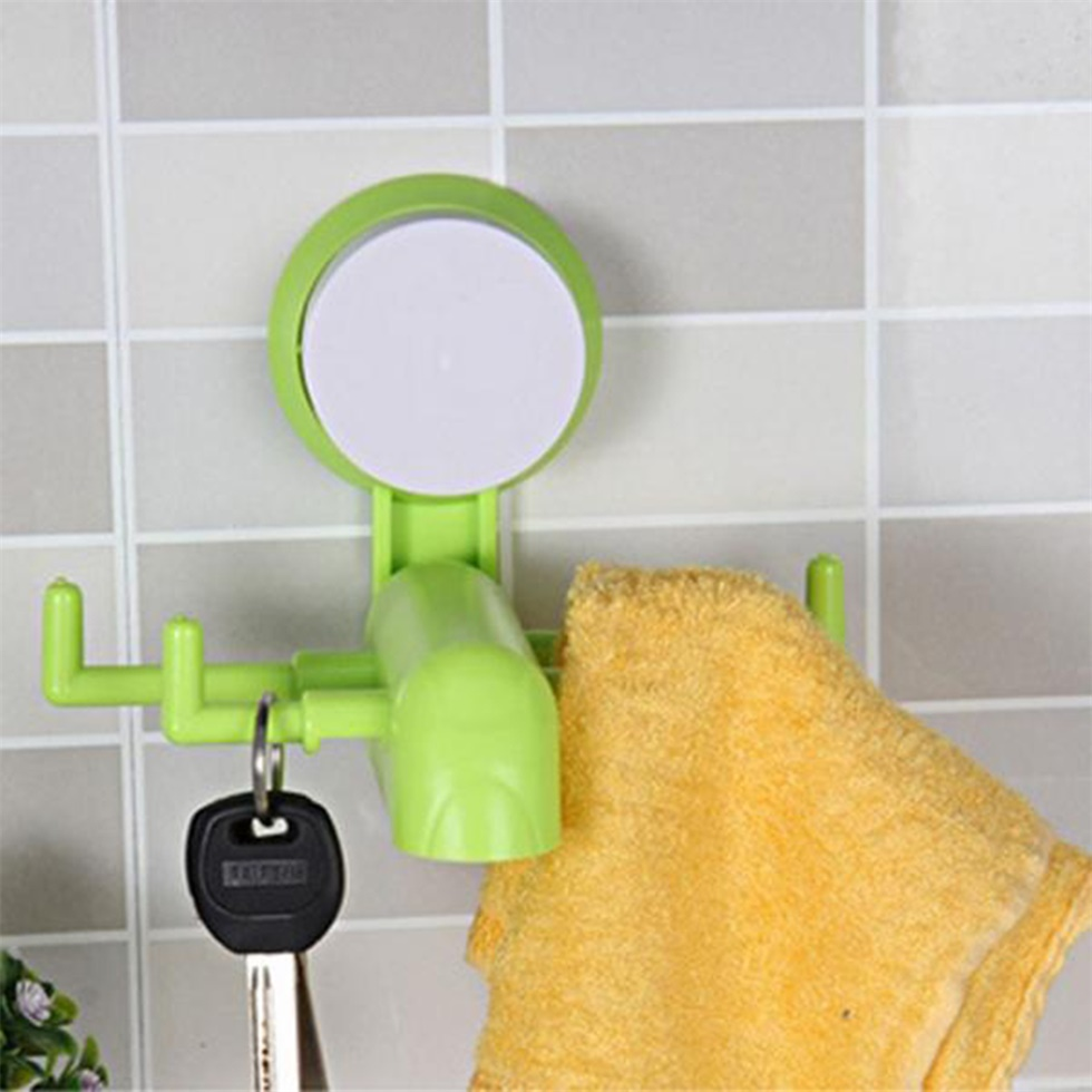 Dishcloth Hanger: 4 Claw Suction Cup Wall Hooks Bath Kitchen Towel Clothes