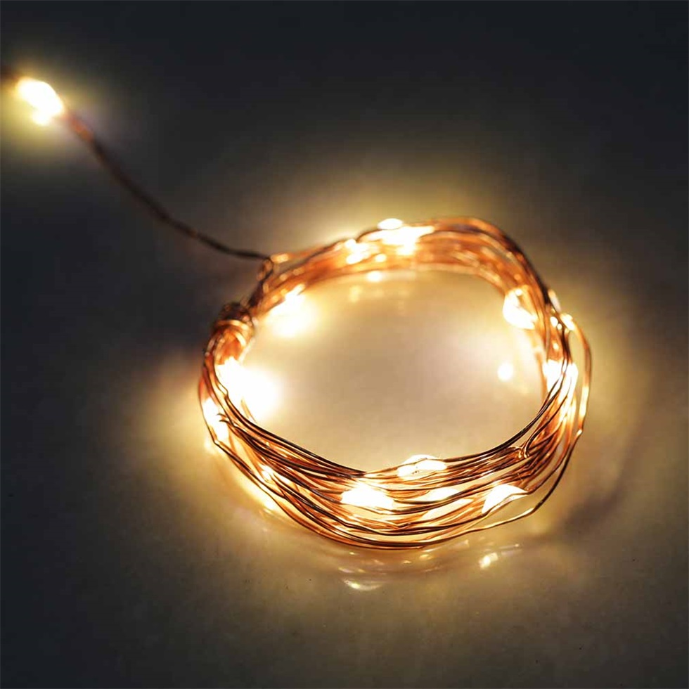 2M 20LED Copper Wire Xmas Wedding String Fairy Light Lamp Battery Operated BG