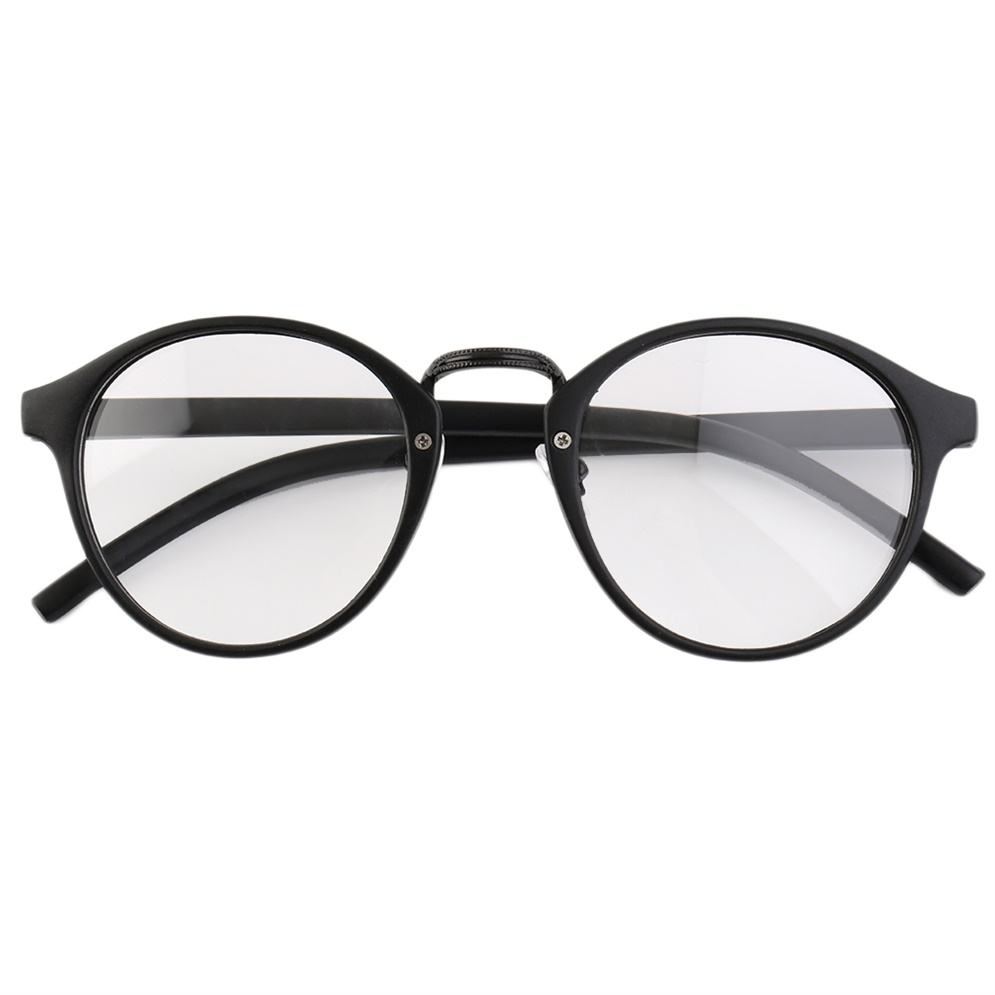 Large Round Frame Glasses : Retro Geek Vintage Nerd Large Frame Fashion Round Clear ...