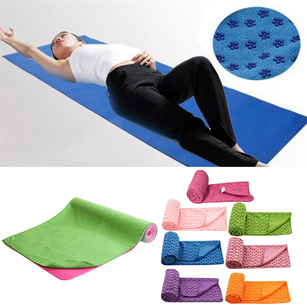 Non-Slip Yoga Mat Cover Towel Blanket Sport Fitness