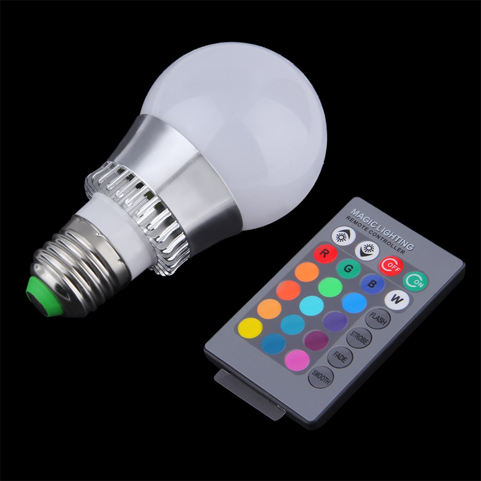 3w 5w 10w e27 e14 rgb led light color changing lamp bulb remote control gt. Black Bedroom Furniture Sets. Home Design Ideas