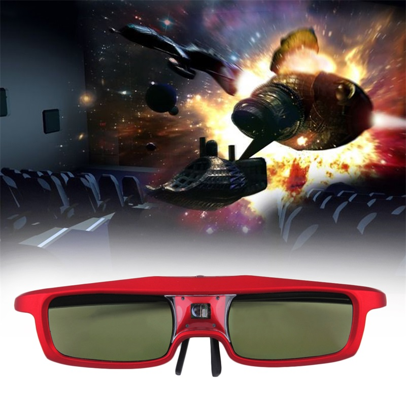 Universal Rechargeable 3D Active Shutter Glasses for DLP-link Projector IM