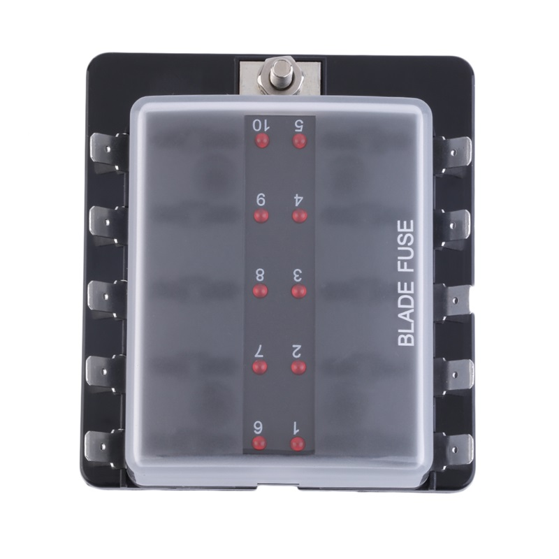 4  6  10 Way Circuit Car Automotive Atc Ato Fuse Box For Middle Size Blade Pp
