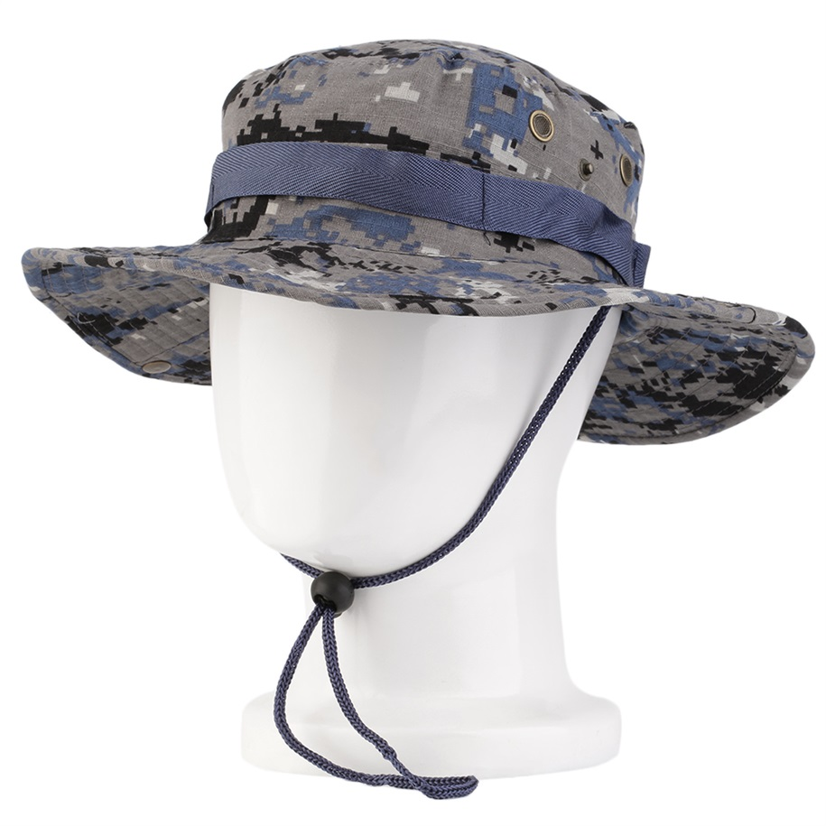 Outdoor sun fisherman round hat mystery camouflage fishing for Camo fishing hat