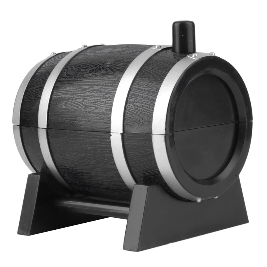 Wine barrel plastic automatic toothpick box container dispenser holder oe - Tooth pick dispenser ...