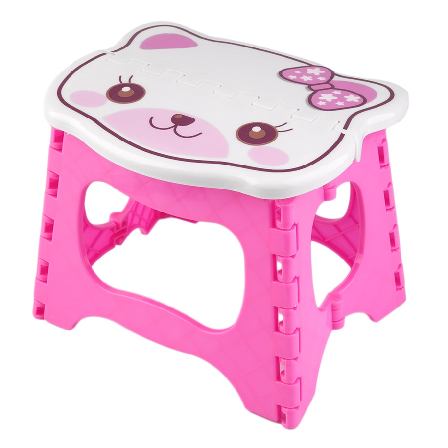 New Infant Baby Foldable Folding Step Stool Chair Kids