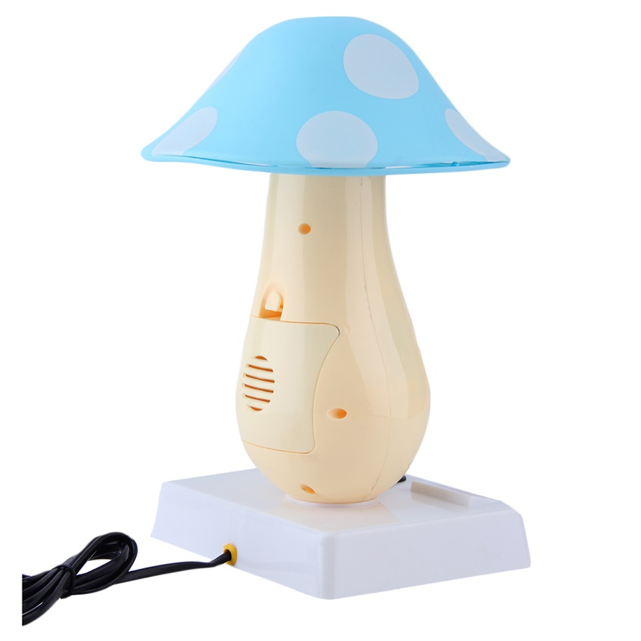 Mushroom Table Clock Lamp Creative Desk Alarm Night Light