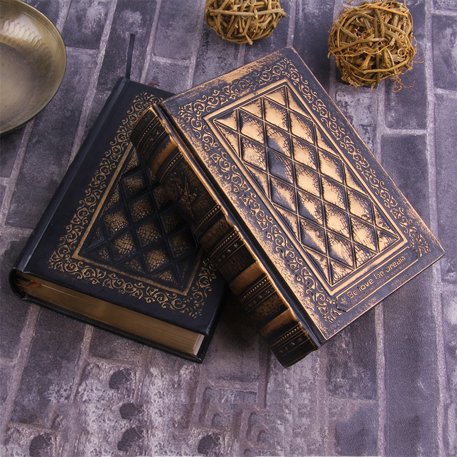 Retro Vintage Journal Diary Notebook Leather Blank Hard Cover Book Paper OE