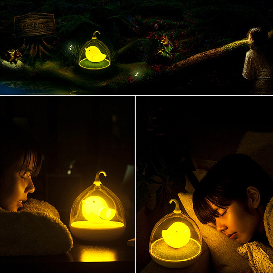 Kids Bedroom At Night home led night lamp kids bedroom table lights birdcage touch