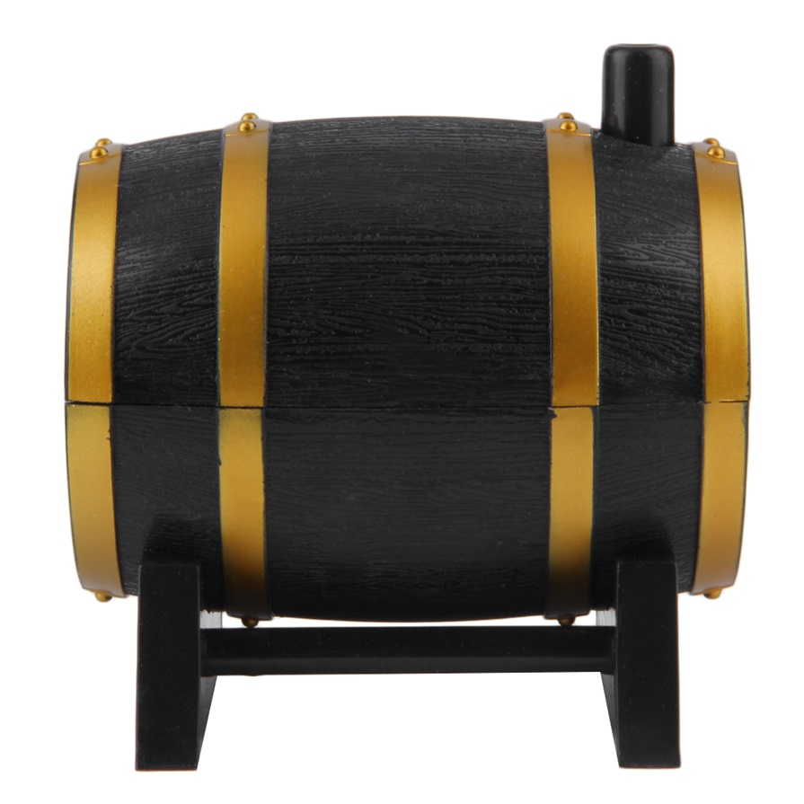 Wine barrel plastic automatic toothpick box container dispenser holder ra ebay - Toothpick dispenser ...